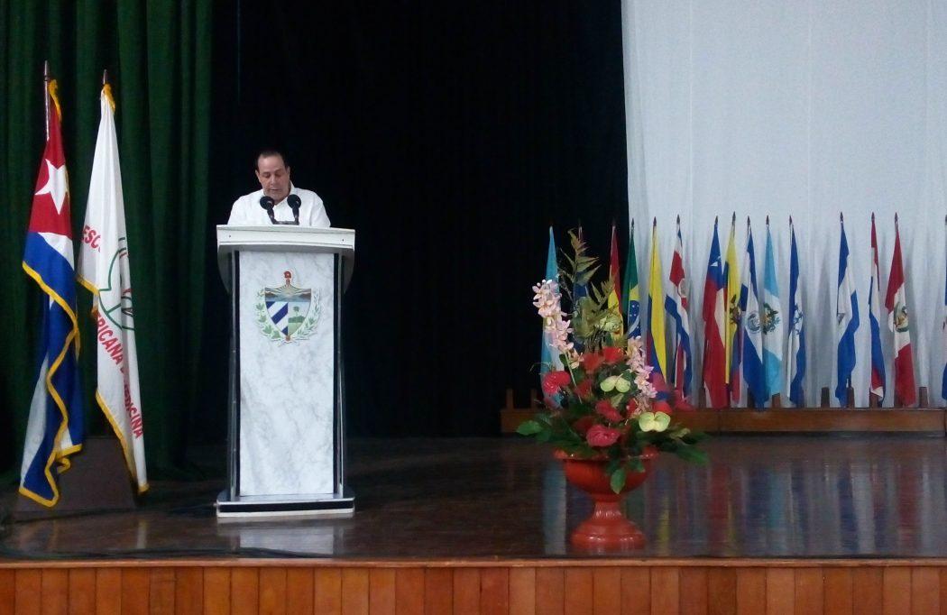 Intervención del Ministro de Salud Pública Dr. José Angel Portal Miranda, en el Encuentro Antimperialista de Solidaridad por la Democracia y contra el Neoliberalismo en la ELAM.